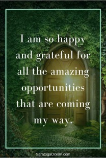 I am so happy and grateful for all the amazing opportunities that are coming my way.